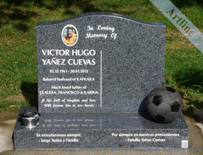 Soccer Ball Headstone