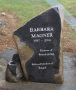 New Zealand Basalt Rock Memorial Headstone