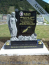 Angel Wave Headstone