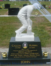Carved Marble Statue Memorial Headstone