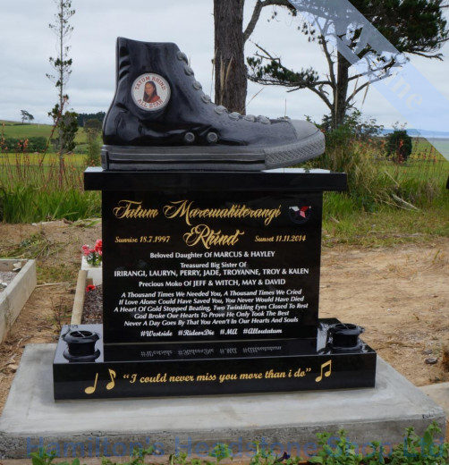 Chuck Tailor Shoe Headstone