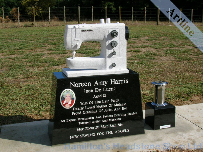 Singer Sewing Machine Headstone